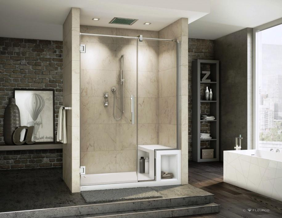 About allegiant shower doors allegiant glass showers for Pictures of beautiful small bathrooms